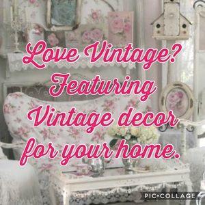 Vintage decor come check it out!!
